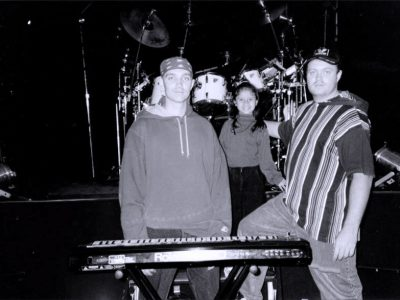 Me, my nice, and brother Henrik. Before Concert Guatemala 1994