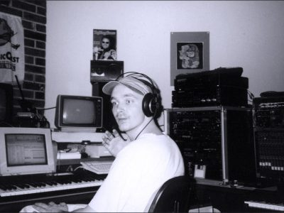 My brothers home studio 1994. Creating tracks for the upcoming concert.