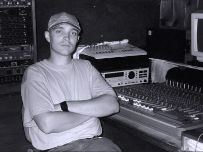 In studio helping programing synth sound for my brothers album.  The 12th. hour. 1994