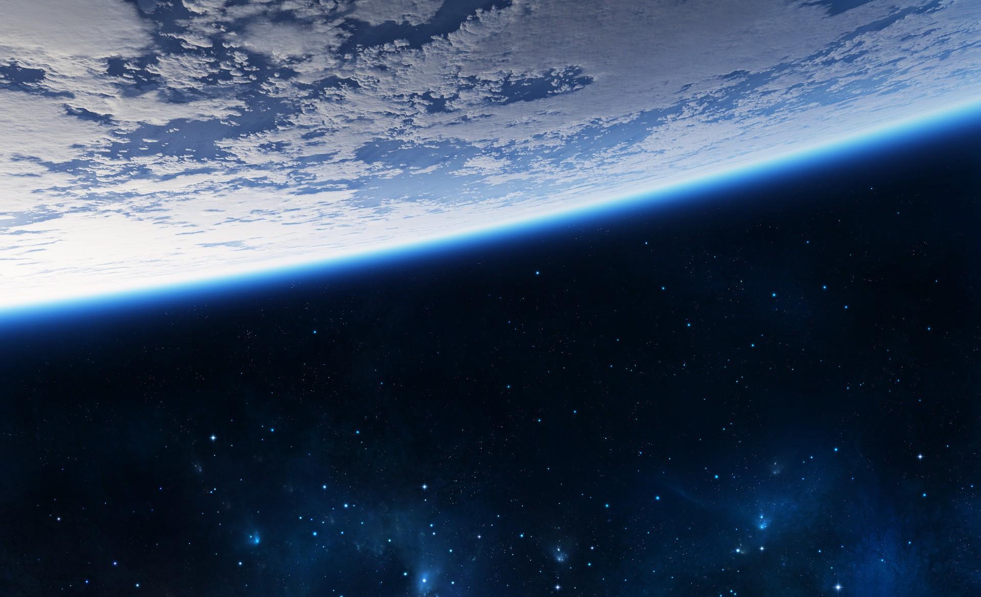 Обои Звездное небо над землей картинки на рабочий стол на тему Космос - скачать  № 1768263 загрузить